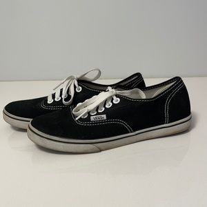 Vans classic thin sole black trainers size 5.5